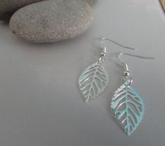 Silver Leaves Earrings Silver Leaf Earrings Sterling Silver