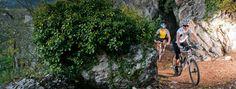 """Le #Marocche o """"valli della luna"""" sono un fenomeno unico nelle #Alpi: una distesa di massi e rocce, oggi zona protetta (#biotopo).  The """"marocche"""" - also known as the """"lunar valley"""" - are a unique phanomenon in the #Alps. A huge landslide with big rocks, today it is a protected area. #GardaTrentino  #mountaingardabike #trentino"""