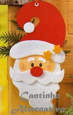 Cantinho Alternativo: Vários Modelos de Apliques Para Papai Noel de EVA