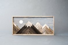 Wooden Moon Mountain Scene – HollyBee and Company Wooden Wall Art, Diy Wall Art, Wooden Walls, Wall Decor, Room Decor, Mountain Decor, Mountain Art, Main Image, Earth Pigments