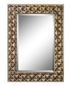 Another great find on #zulily! Gold Geometric Frame Mirror by Timber Lane Furniture #zulilyfinds