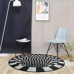 US$ 46.98 - Vortex Illusion Rug - m.57diy.com Living Room Carpet, Home Living Room, Carpet Flooring, Rugs On Carpet, Home Bedroom, Bedroom Decor, Illusion 3d, Deco Originale, 3d Home