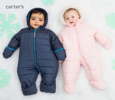 The baby bunting. Cue the awws… fleece lining, easy-up zippers + hoods to keep them toasty warm.
