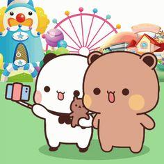 Cute Bunny Cartoon, Cute Kawaii Animals, Cute Cartoon Pictures, Cute Love Cartoons, Cute Baby Animals, Cute Teddy Bear Pics, Teddy Bear Pictures, Cute Bear Drawings, Cute Cartoon Drawings