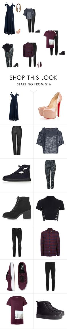 """""""AMA's"""" by alamort-rcm ❤ liked on Polyvore featuring Christian Louboutin, Topshop, Glamorous, SELECTED, Vans, Topman and H&M"""