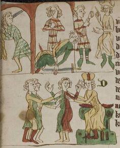 Eike <von Repgow>   Heidelberger Sachsenspiegel — Ostmitteldeutschland, Anfang 14. Jh. Cod. Pal. germ. 164 Folio 30r