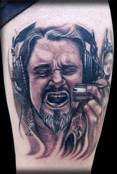 Wolfman Jack Tattoo.RIP. Wolfman Jack, Jack Tattoo, Piercings, Ink, Portrait, Tattoos, Concert, People, Peircings