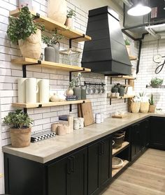 Farmhouse Style Kitchen at Magnolia Market