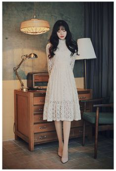 Classy Dress, Classy Outfits, Pretty Outfits, Pretty Dresses, Beautiful Dresses, Korean Fashion Dress, Ulzzang Fashion, Asian Fashion, Women's Fashion Dresses