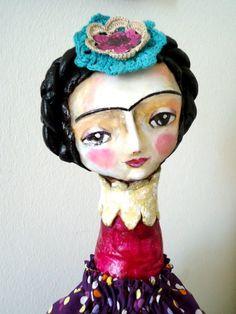 Frida Kahlo art doll by Susana Tavares