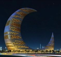 Crescent Moon Tower, Dubai - Interesting Places to Visit - Please Share or LIKE