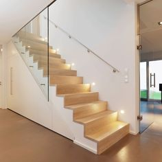 Treppenbau Bastian Treppenbau Bastian The post Treppenbau Bastian appeared first on Flur ideen. Stairs And Doors, Open Stairs, House Stairs, Escalier Design, Bungalow Renovation, Stair Lighting, Interior Stairs, Stair Railing, Staircase Design
