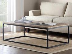 Amerikaanse meubels smeedijzeren salontafel gemaakt van oude houten meubelen / ijzer ongedwongen salontafel / houten salontafel Specials