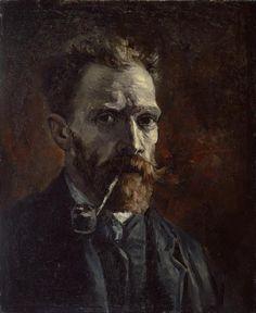 Autorretratos de Vincent van Gogh: Vincent Van Gogh: Autorretrato con pipa