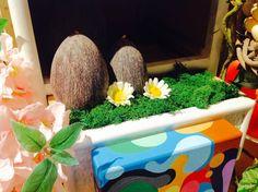 Eggs wax candles