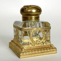 French Empire Inkwell - Baccarat Crystal