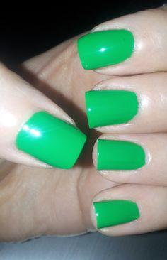 Bright Green Nails