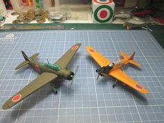 Kyoshu K11W1 Shiragiku & Mitsubishi A6M2-K