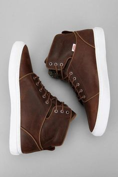Brown High-Top sneakers for men - Click on image to visit www.pooz.com