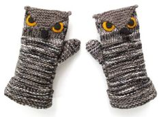 Owl Mittens!