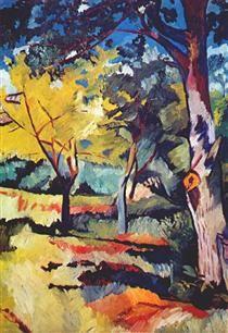 Landscape at Ladyzhino - Natalia Goncharova