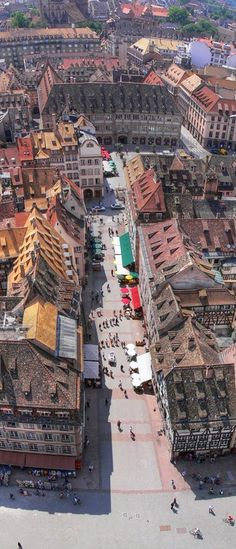 Aerial View of Strasbourg, France.. Beautiful town, especially at Christmas- HOW I would love to go at Christmas!!