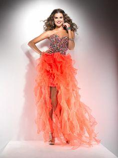 Ornage, Ruffled High-Low Dress