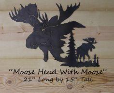 Scroll Saw Patterns, Wood Patterns, Moose Head, Moose Art, Junk Metal Art, Soldier Silhouette, Metal Projects, Wildlife Art, Box
