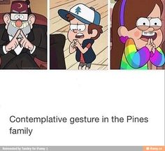 Gravity Falls - It's the Pines family ! Dipper Y Mabel, Dipper Pines, Studio Logo, Gravity Falls Funny, Gravity Falls Secrets, Pinecest, Dipcifica, Grabity Falls, Fall Memes
