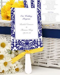 Wedding programs from Jean M, like this unique wedding program fan, will help guests feel included in your ceremony. #weddingprograms #weddinginspiration