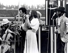 From left: August Burns, Fred Herrera, Nancy Nevins and Albert Moore of Sweetwater, performing at the Miami Pop Festival, December 1968.