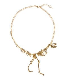Look what I found on #zulily! Goldtone T-Rex Necklace #zulilyfinds