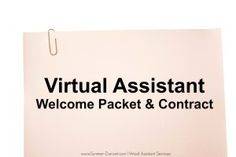 Virtual Assistant Welcome Packet & #Contract #VirtualAssistant #WAHM