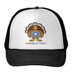 Funny Thanksgiving Hanukkah 2013 [r] Trucker Hats Popular Colors, Hanukkah, Yellow, Blue, Hot Pink, Thanksgiving, Trucker Hats, Brown, Funny