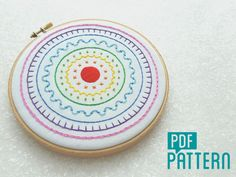 Rainbow Sampler Embroidery Pattern, Hand Embroidery Digital Pattern, Sampler…