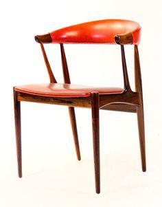 Johannes Andersen; Rosewood and Leather Armchair for Andersens Møbelfabrik, 1960s.