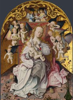 The Virgin And Child With Musical Angels - Master of the Saint Bartholomew Altarpiece.
