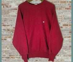 fbc865e6b Vintage Champion Reverse Weave Crewneck Sweatshirt Red