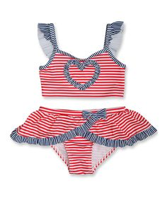 Look what I found on #zulily! Penelope Mack Red & White Born In the USA Bikini - Infant, Toddler & Girls by Penelope Mack #zulilyfinds