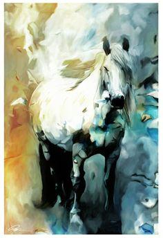 white horse art