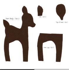 Standing Felt Deer Pattern (free)