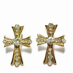 Crystal cross earrings Crystal cross earrings Jewelry Earrings