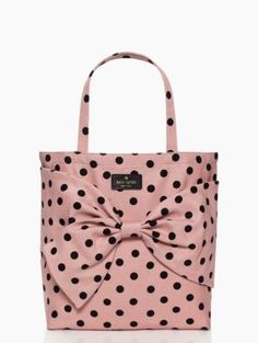 I am totally crazy in love with this Kate Spade polka dot tote! This must be mine!!