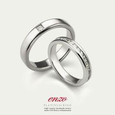 엔조 프린세스 2PR236R / 2PR237R 백금커플링 - Enzo Princess collection 2PR236R / 2PR237R Platinum ring