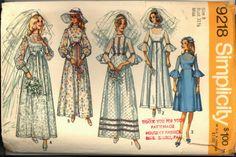 1970s High Waist Wedding Dress Bridesmaid by VintagePatternsCo1