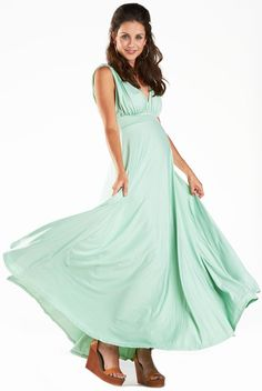 "Fillyboo ""Smoke & Mirrors"" maternity maxi dress in mint. www.fillyboomaternity.com"