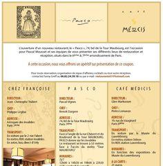 """Клиент: Cafe Описание: Дизайн почтовой рассылки для французского клиента. Оформление выполнено в классическом французском стиле с приятной """"кофейной"""" цветовой гаммой.  Работа по суб-подряду."""