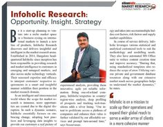 Glad to have been featured in the list of 20 Most Promising #MarketResearchConsultants by siliconindia Magazine. Click here to read more... https://bit.ly/2LKZims  #Infoholicresearch #MarketResearch #MarketResearchCompany #Siliconindia #Magazine