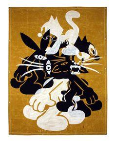 kostas_seremetis black_panther_party felix_the_cat canvas art painting
