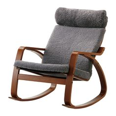 POÄNG Rocking chair - Lockarp gray, medium brown - IKEA. Would have to solve no padding on arms... $299